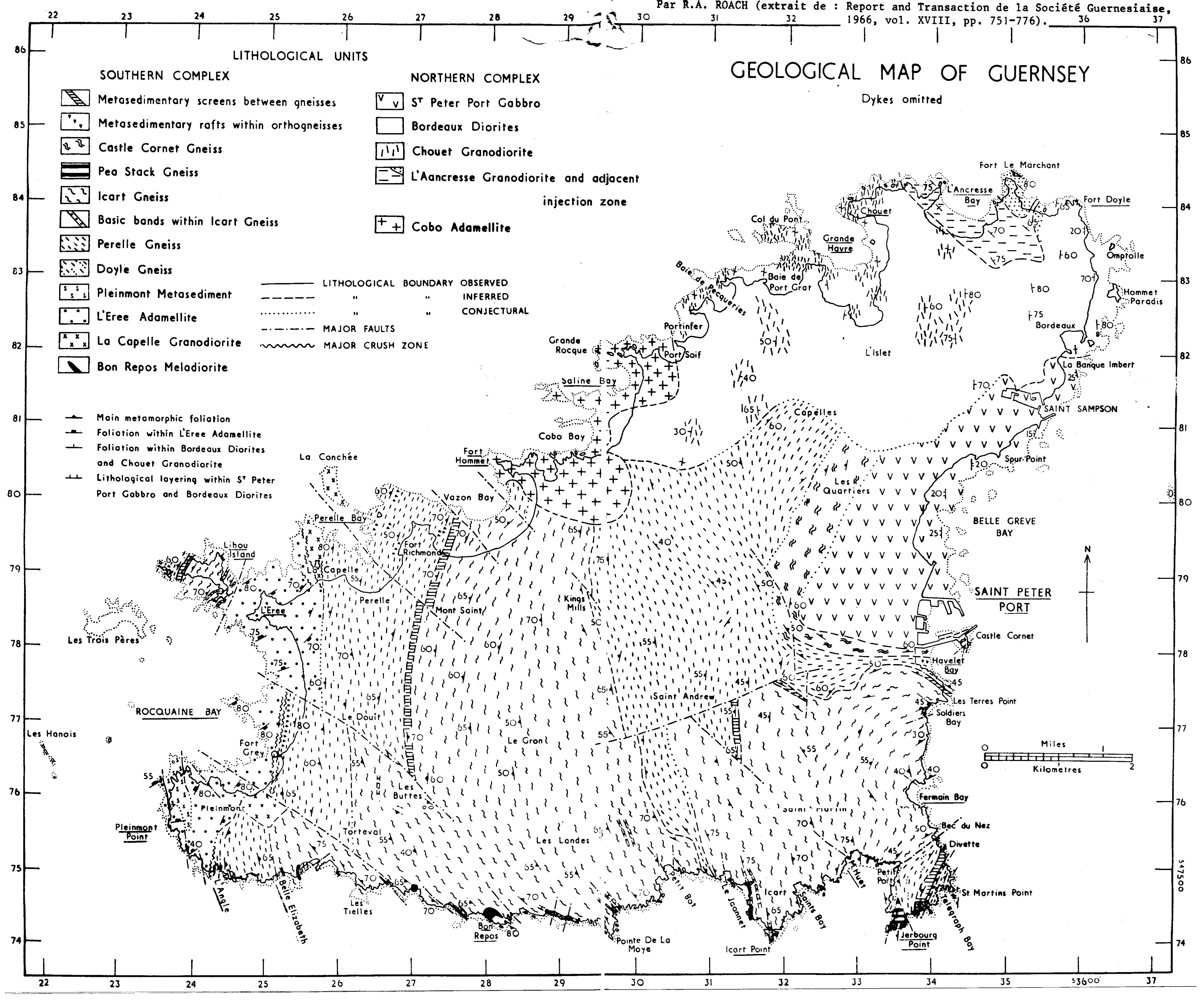 Guernesey geol map
